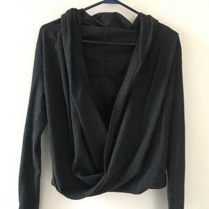 Lululemon Cross-Front Crop Hooded Sweatshirt